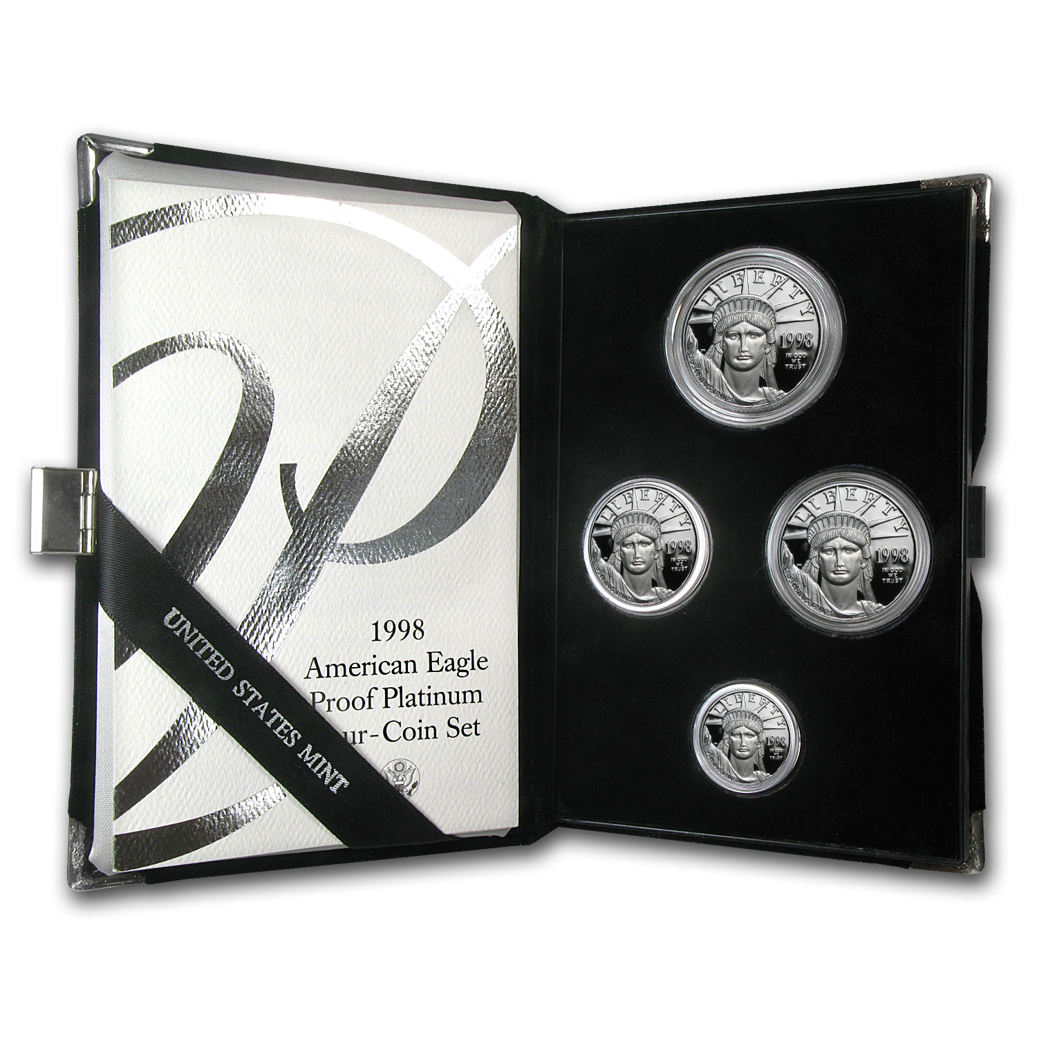 1998-W 4-Coin Proof Platinum American Eagle Set (w/Box & CoA)